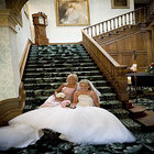 wedding on anglesey girls on staircase1.jpg